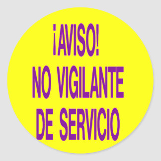 aviso classic round sticker