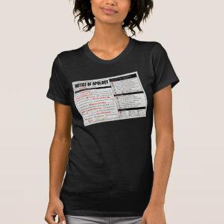 Aviso de la disculpa de Rickroll Astley Camisetas