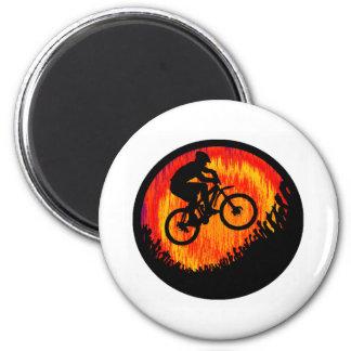 Aviso de las almas de la bici iman de nevera