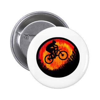 Aviso de las almas de la bici pin redondo 5 cm