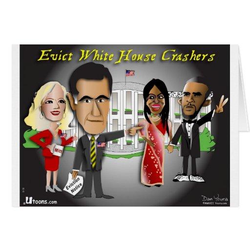 Aviso del desahucio de Romney Tarjeton