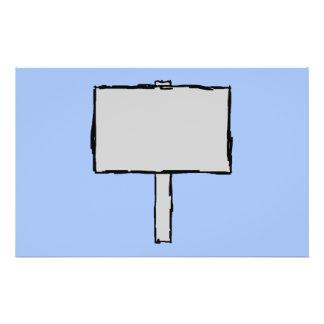 Aviso del poste indicador Azul Tarjetas Publicitarias