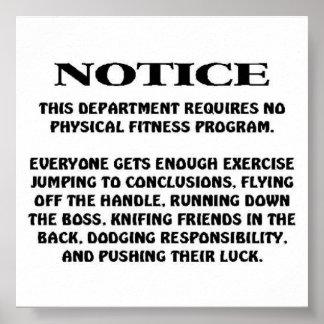 Aviso del trabajo poster