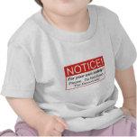 Aviso/Demócratas Camisetas