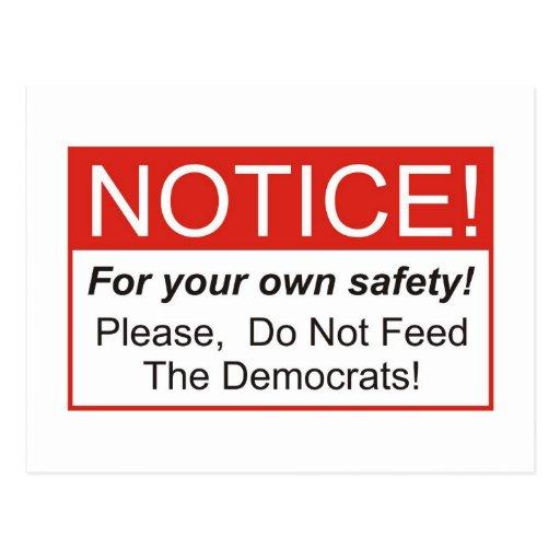 Aviso/Demócratas Postales