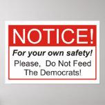 Aviso/Demócratas Posters