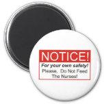 Aviso/enfermera Imanes Para Frigoríficos