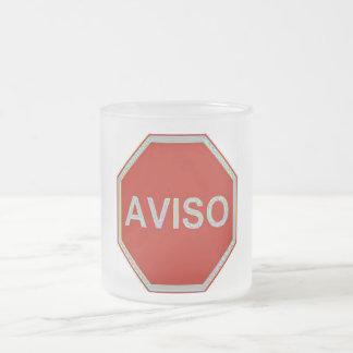 AVISO FROSTED GLASS COFFEE MUG