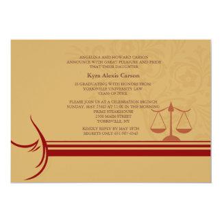 """Aviso Inv de la graduación del colegio de abogados Invitación 5"""" X 7"""""""