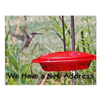 Aviso móvil del arte del colibrí del BR Tarjetas Postales