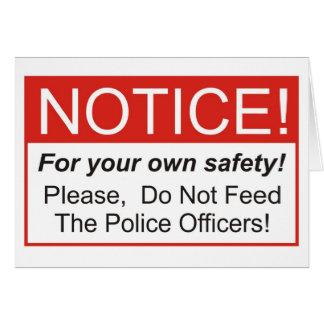 Aviso/oficial de policía tarjeta de felicitación