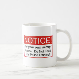Aviso/oficial de policía taza