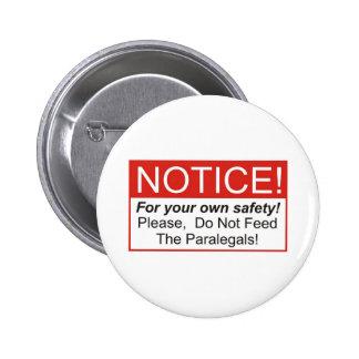 Aviso/Paralegals Pin Redondo De 2 Pulgadas