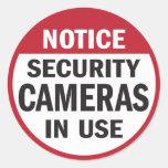 Aviso: Pegatina funcionando de las cámaras de