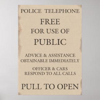 Aviso público de la caja del teléfono de la poster