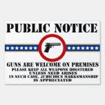 Aviso público - recepción de los armas