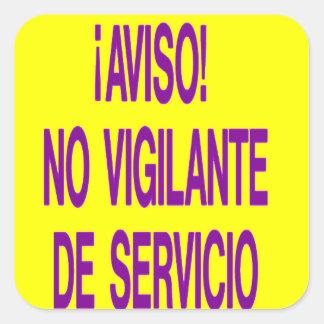 aviso square sticker