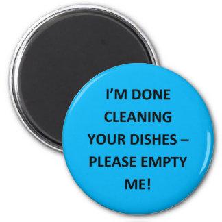 Avisos del lavaplatos de la oficina imán redondo 5 cm