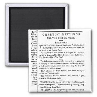 Avisos para las reuniones del Chartist Imán Cuadrado