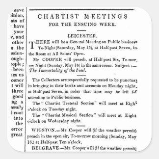 Avisos para las reuniones del Chartist Colcomania Cuadrada