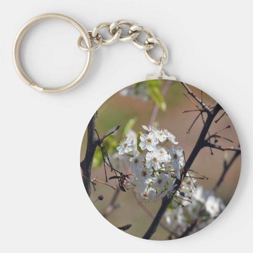 Avispa-en las flores de BPT Llavero Redondo Tipo Pin
