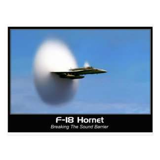 Avispón del boom sónico F-18 Postal