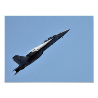 Avispón estupendo de F/A-18F de USS Eisenhower Poster