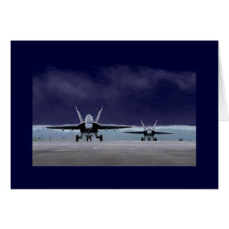 Avispón estupendo F-18 Tarjeta De Felicitación