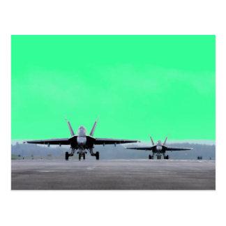 Avispón estupendo F-18 Tarjetas Postales