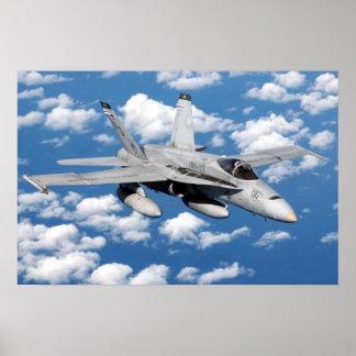 Avispón F/A-18 Póster