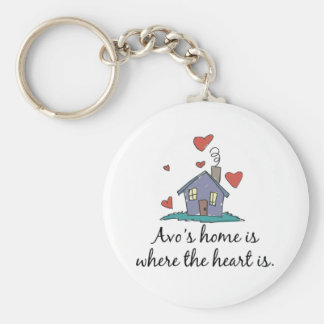 Avo's Home is Where the Heart is Key Chains