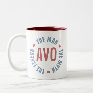 Avo Man Myth Legend Customizable Two-Tone Coffee Mug