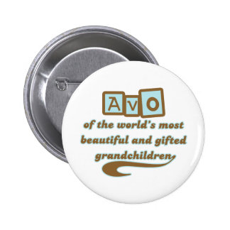Avo of Gifted Grandchildren Pinback Button
