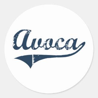 Avoca New York Classic Design Round Sticker