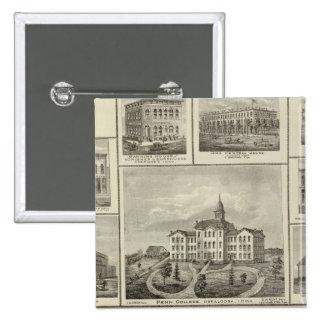 Avoca Penn College, Oskaloosa buildings in Dexter Button
