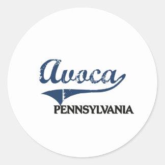 Avoca Pennsylvania City Classic Round Sticker
