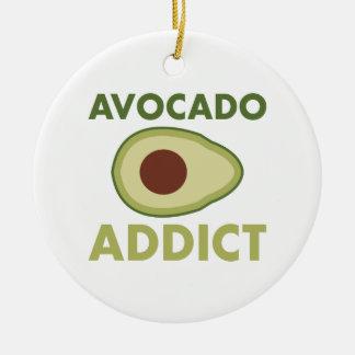 Avocado Addict Ceramic Ornament