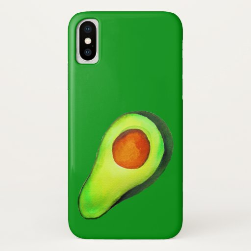 Avocado addict green cute art iPhone XS case