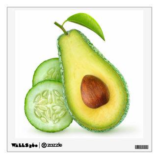 Avocado and cucumber wall sticker