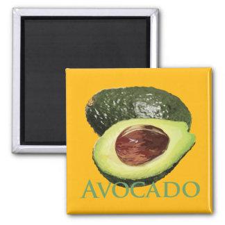 Avocado and Half 2 Inch Square Magnet