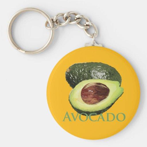 Avocado and Half Basic Round Button Keychain