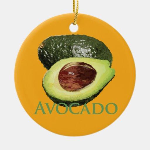 Avocado and Half Christmas Ornaments