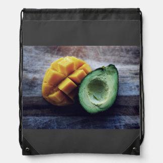 Avocado and mango pair drawstring backpack