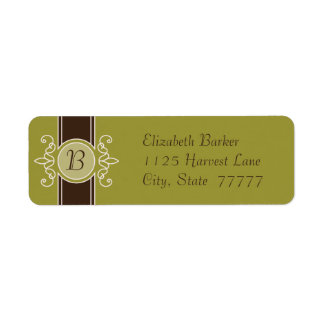 Avocado Classic Harvest Return Address Labels