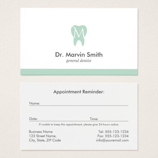 Avocado dentist monogram tooth dental appointment business card avocado dentist monogram tooth dental appointment business card reheart Choice Image