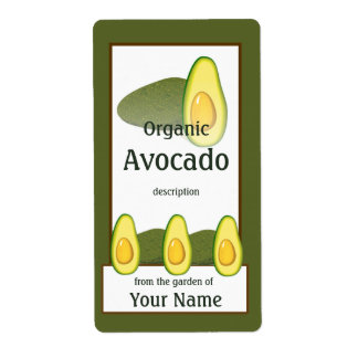 Avocado Gardener Label