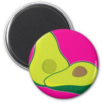 Avocado Graphic 2 Inch Round Magnet