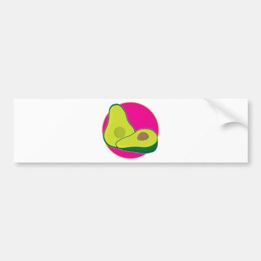 Avocado Graphic Bumper Stickers