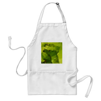 Avocado Green Abstract Low Polygon Background Adult Apron