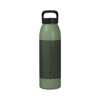 Avocado Green Diamond Pattern Designer Drinking Bottle